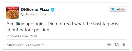 DiGiorno Tweet Apology