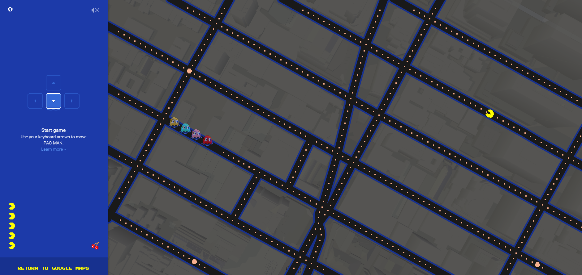 pacMan Times Square Google