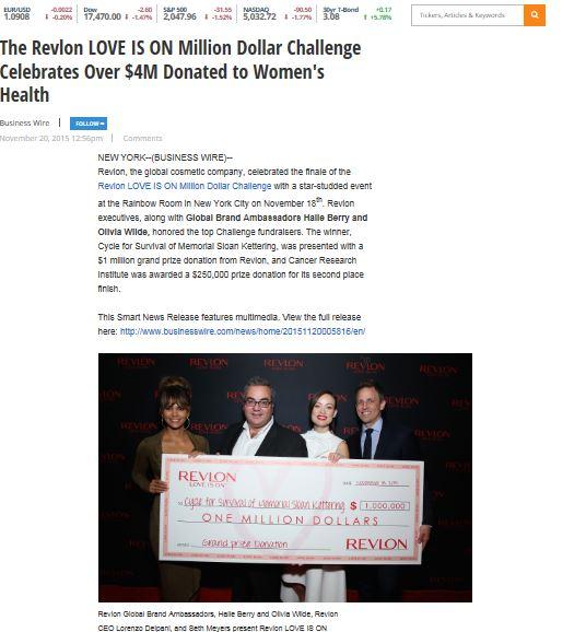 Revlon 1 $$ for lovie is on