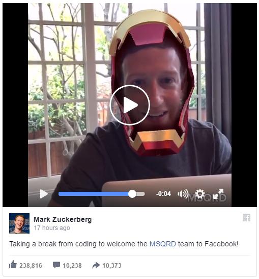 Zuckerberg MSQRD