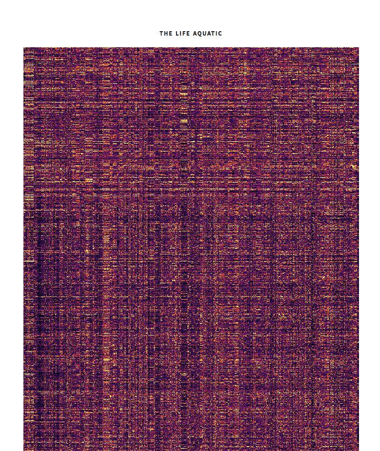 The Life Aquatic pixel grid
